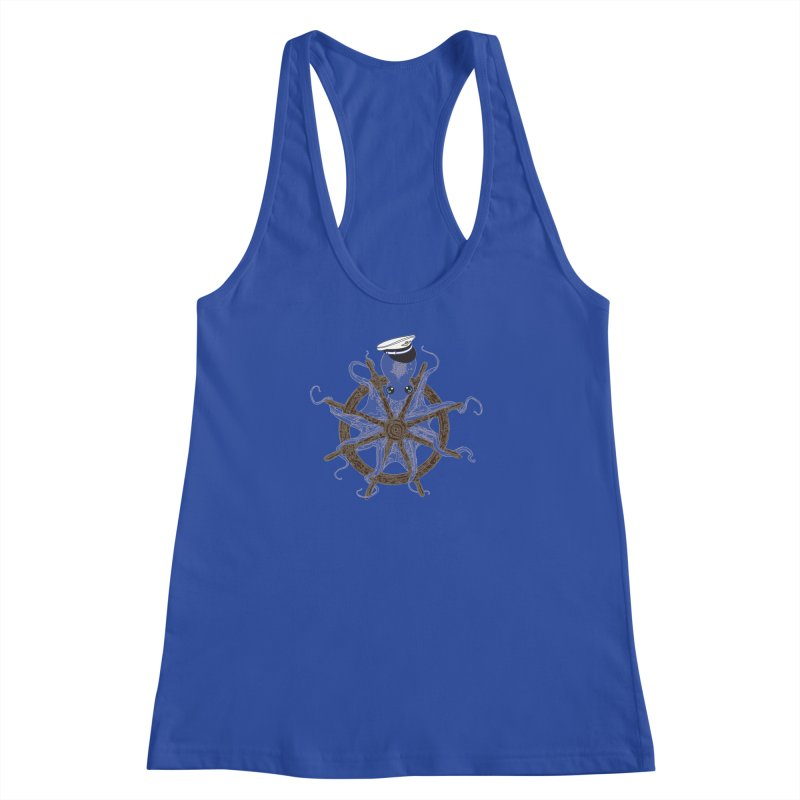 Octopus Captain Women's Racerback Tank by