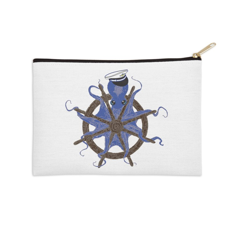 Octopus Captain Accessories Zip Pouch by