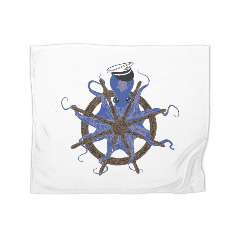 Octopus Captain Home Fleece Blanket Blanket by