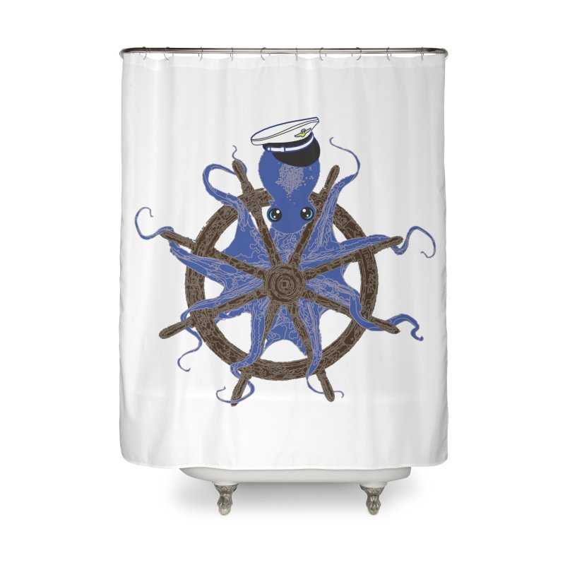Octopus Captain Home Shower Curtain by