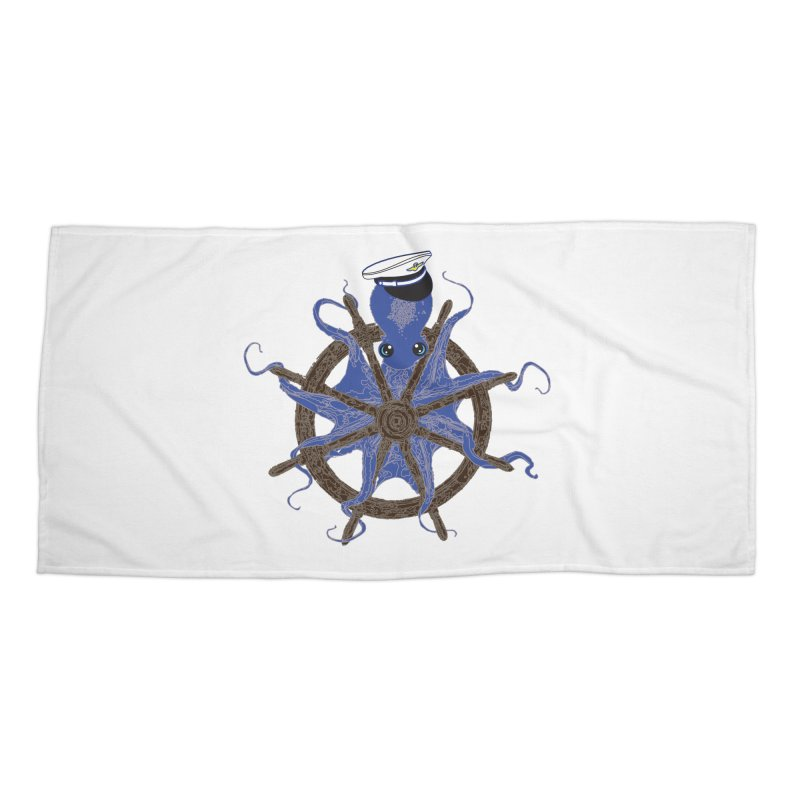 Octopus Captain Accessories Beach Towel by