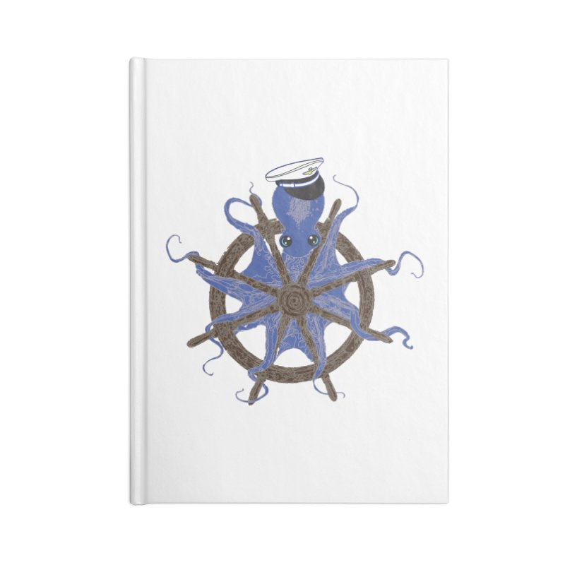 Octopus Captain Accessories Lined Journal Notebook by