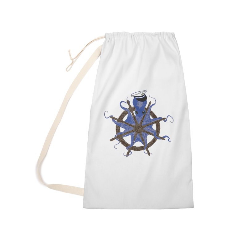 Octopus Captain Accessories Laundry Bag Bag by