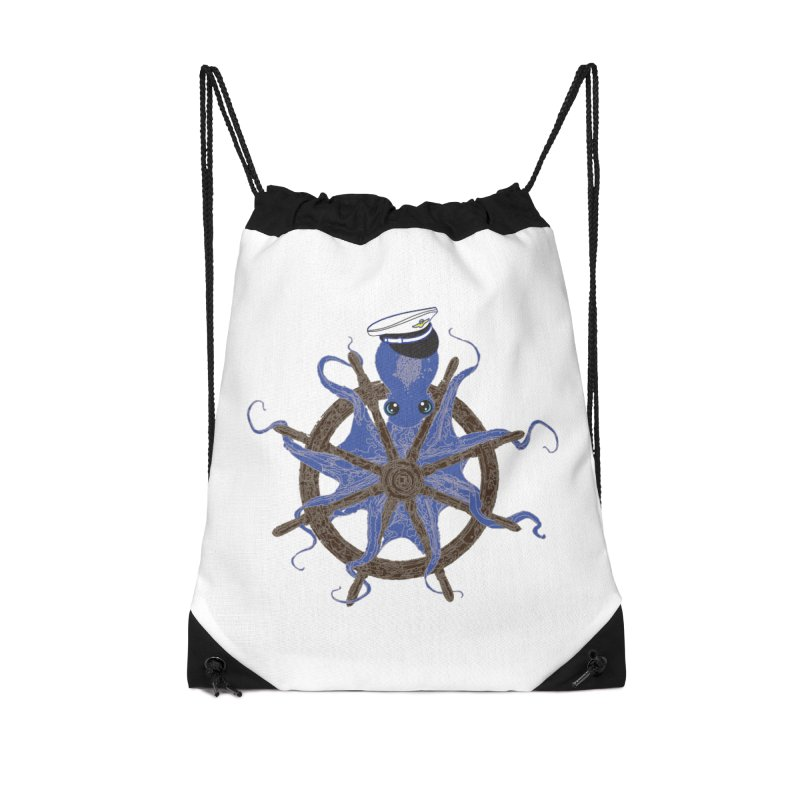 Octopus Captain Accessories Drawstring Bag Bag by
