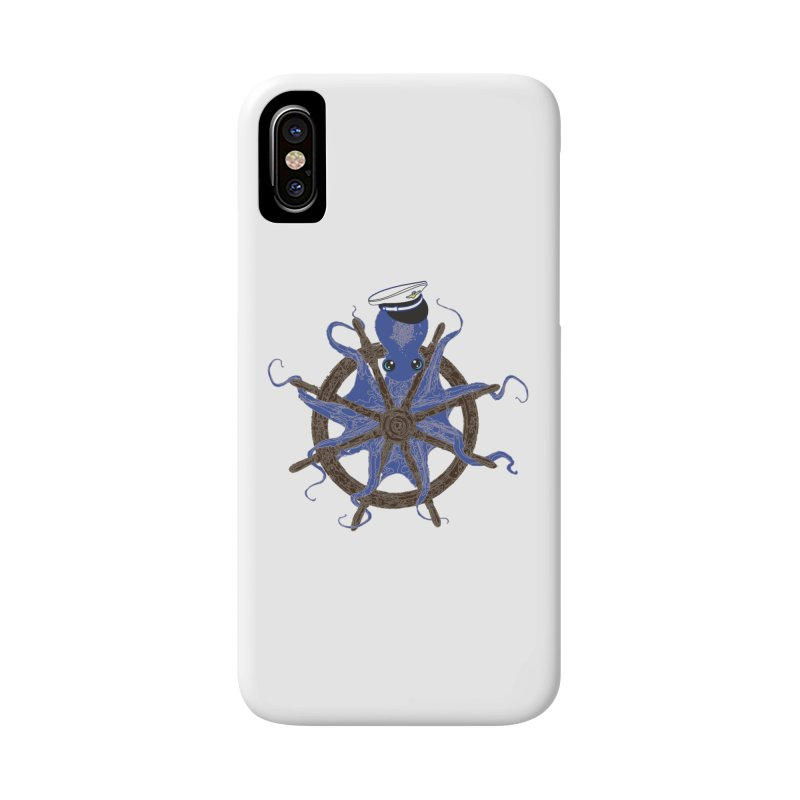 Octopus Captain Accessories Phone Case by