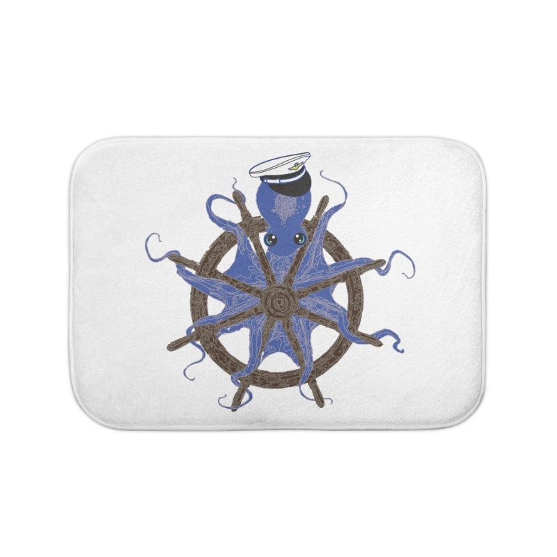 Octopus Captain Home Bath Mat by