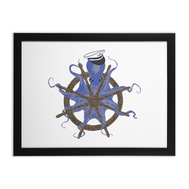 Octopus Captain Home Framed Fine Art Print by