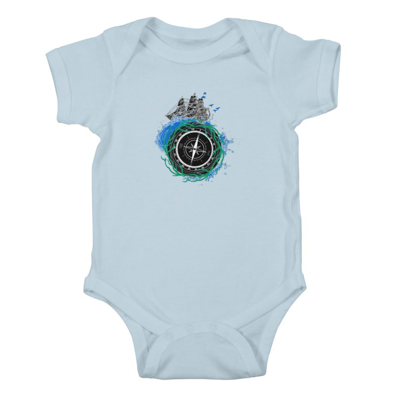 Uncharted Voyage Kids Baby Bodysuit by