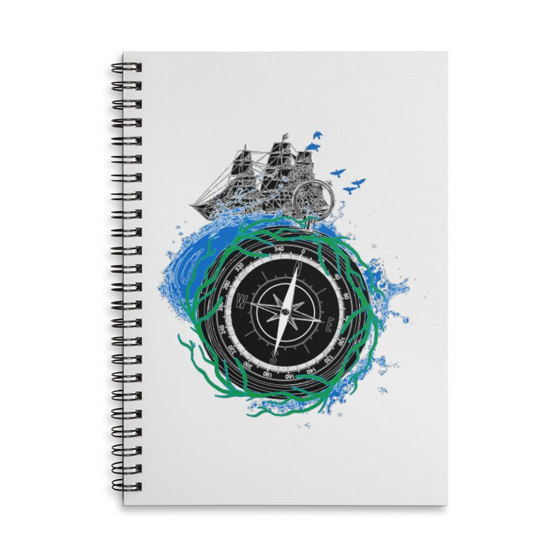 Uncharted Voyage Accessories Lined Spiral Notebook by