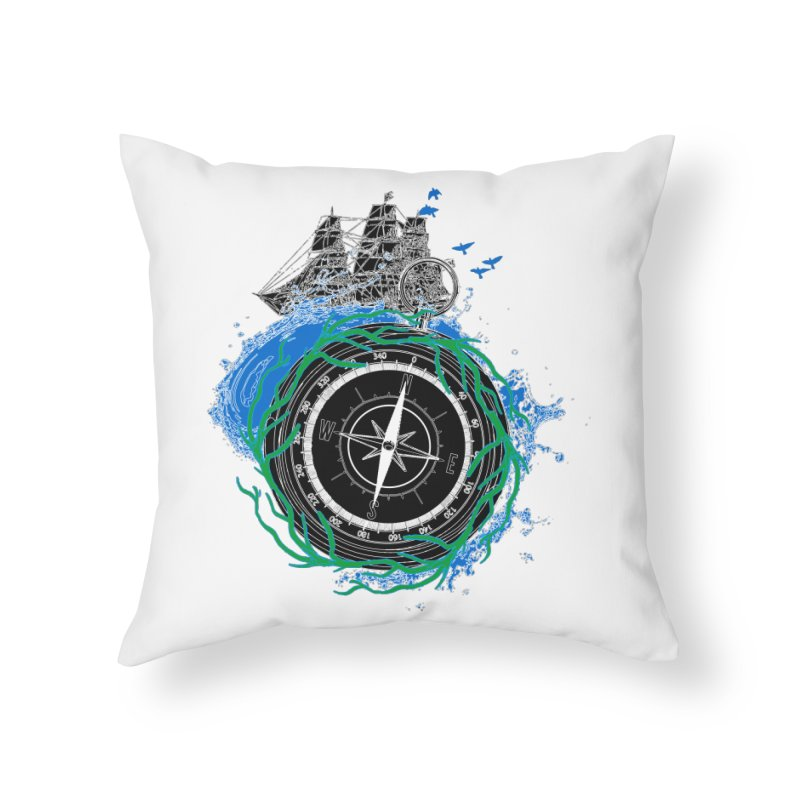 Uncharted Voyage Home Throw Pillow by