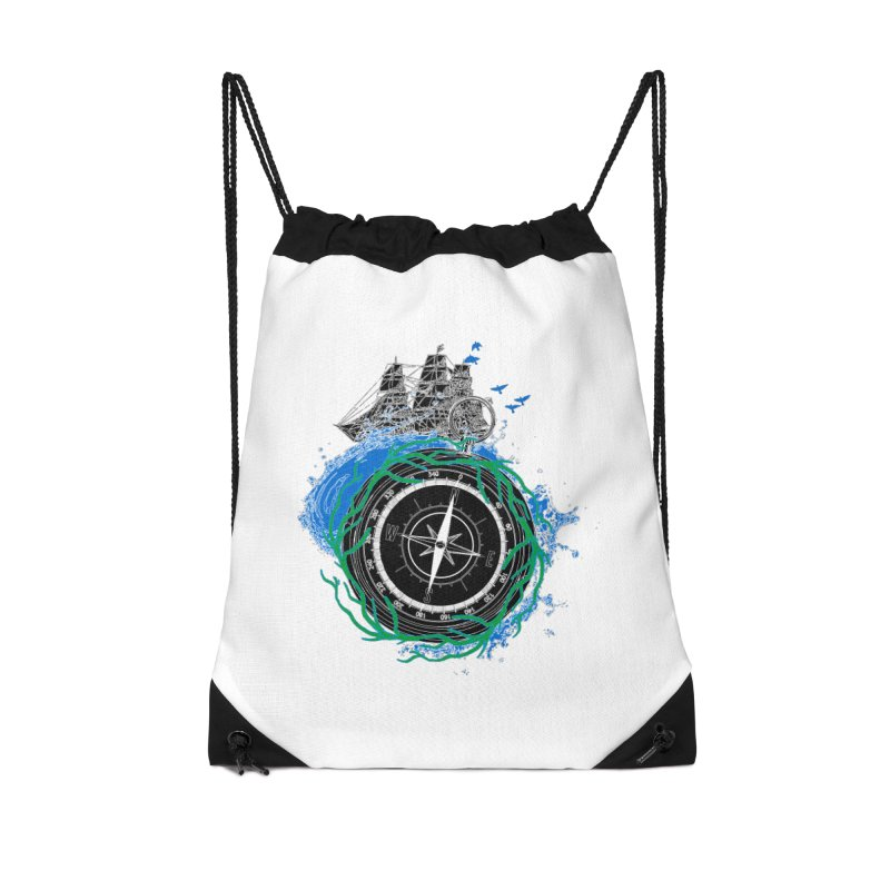 Uncharted Voyage Accessories Drawstring Bag Bag by