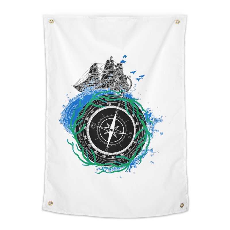 Uncharted Voyage Home Tapestry by