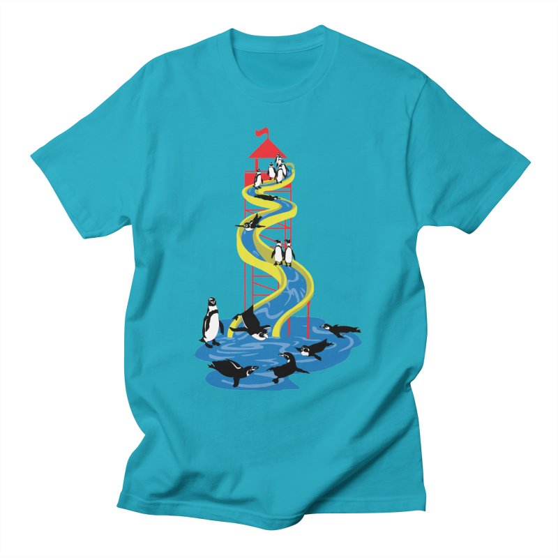 Penguin Waterslide Men's T-Shirt by