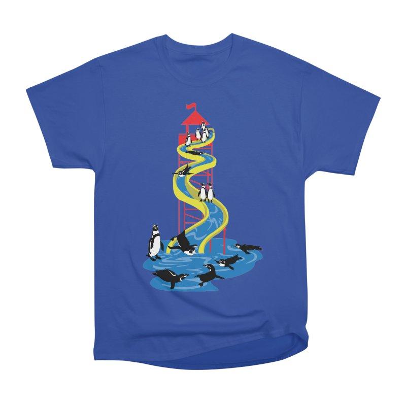 Penguin Waterslide Women's Heavyweight Unisex T-Shirt by