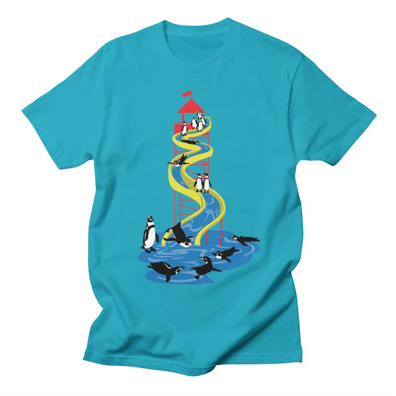 Penguin Waterslide Men's Regular T-Shirt by