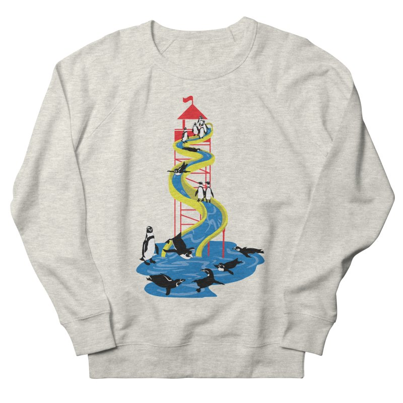 Penguin Waterslide Men's French Terry Sweatshirt by