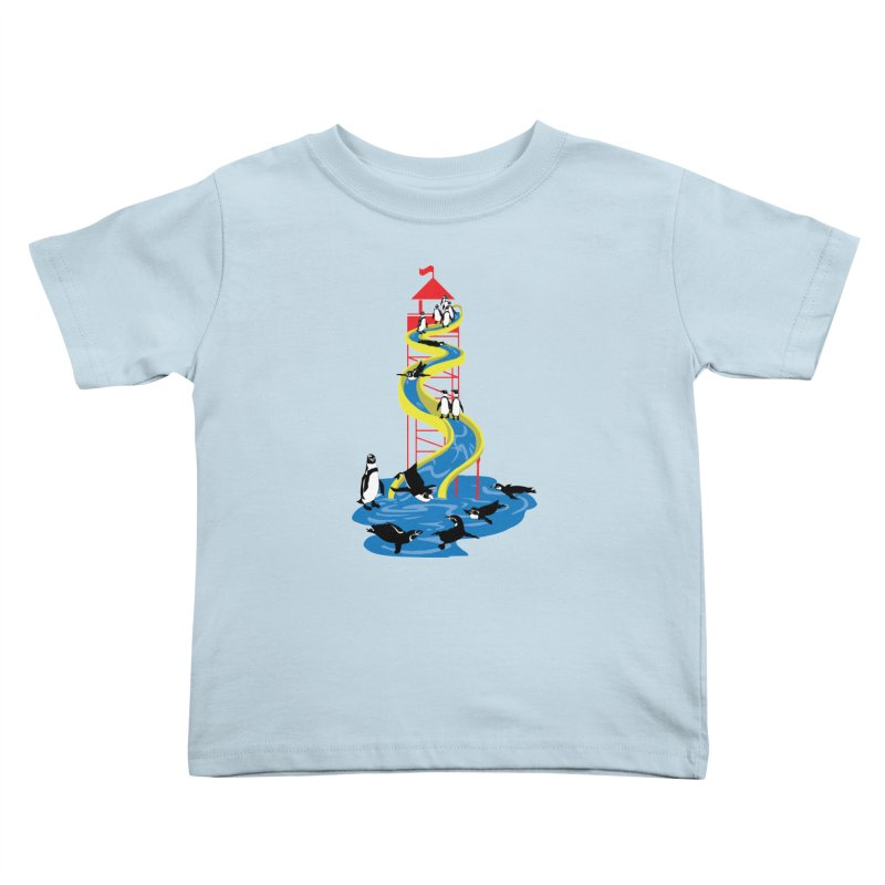 Penguin Waterslide Kids Toddler T-Shirt by