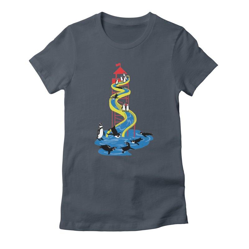 Penguin Waterslide Women's T-Shirt by