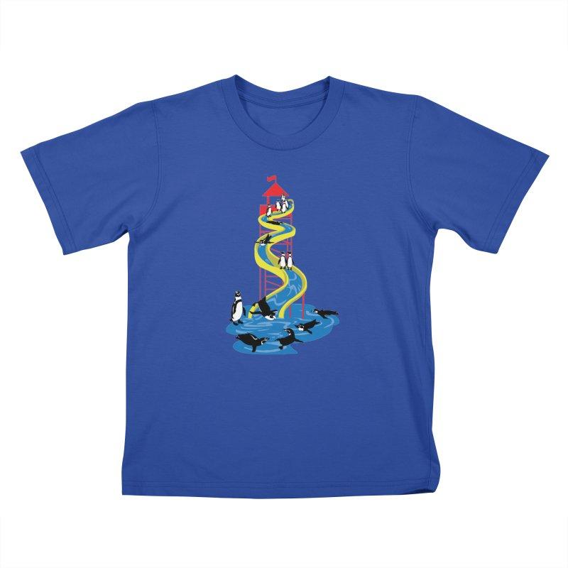 Penguin Waterslide Kids T-Shirt by