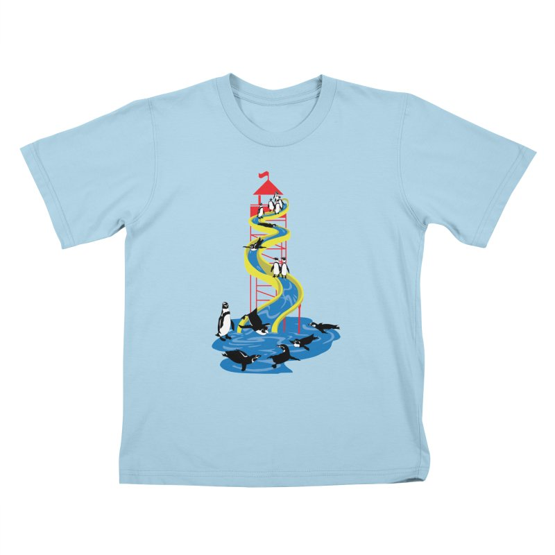 Penguin Waterslide Kids T-Shirt by