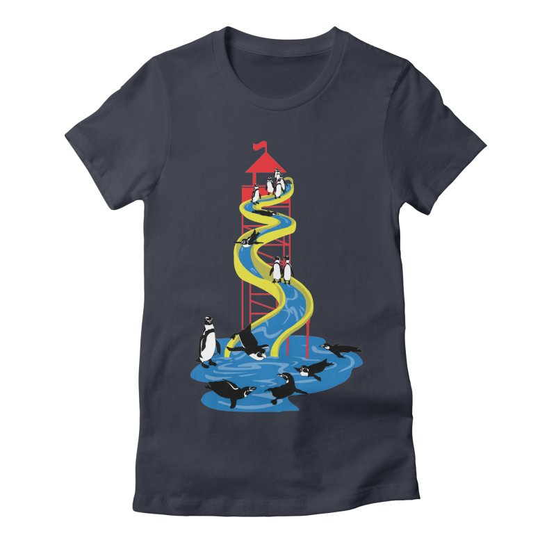 Penguin Waterslide Women's T-Shirt by