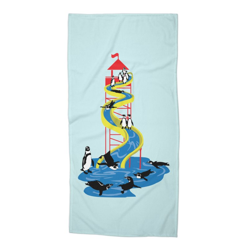 Penguin Waterslide Accessories Beach Towel by