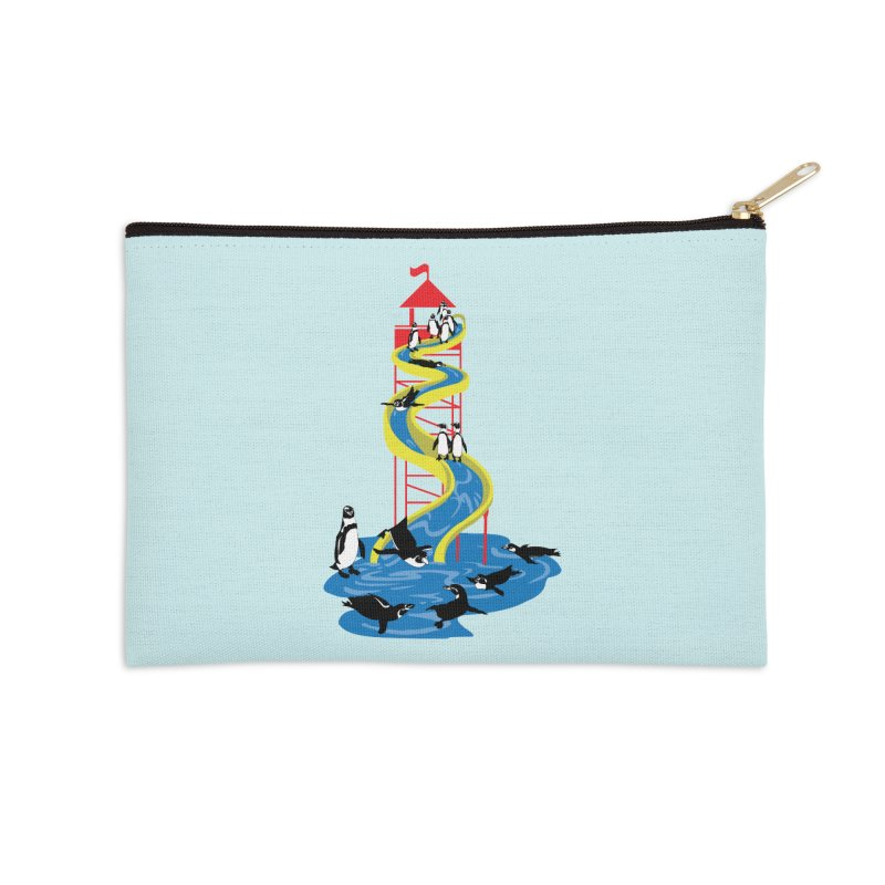 Penguin Waterslide Accessories Zip Pouch by
