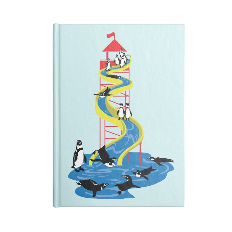 Penguin Waterslide Accessories Blank Journal Notebook by