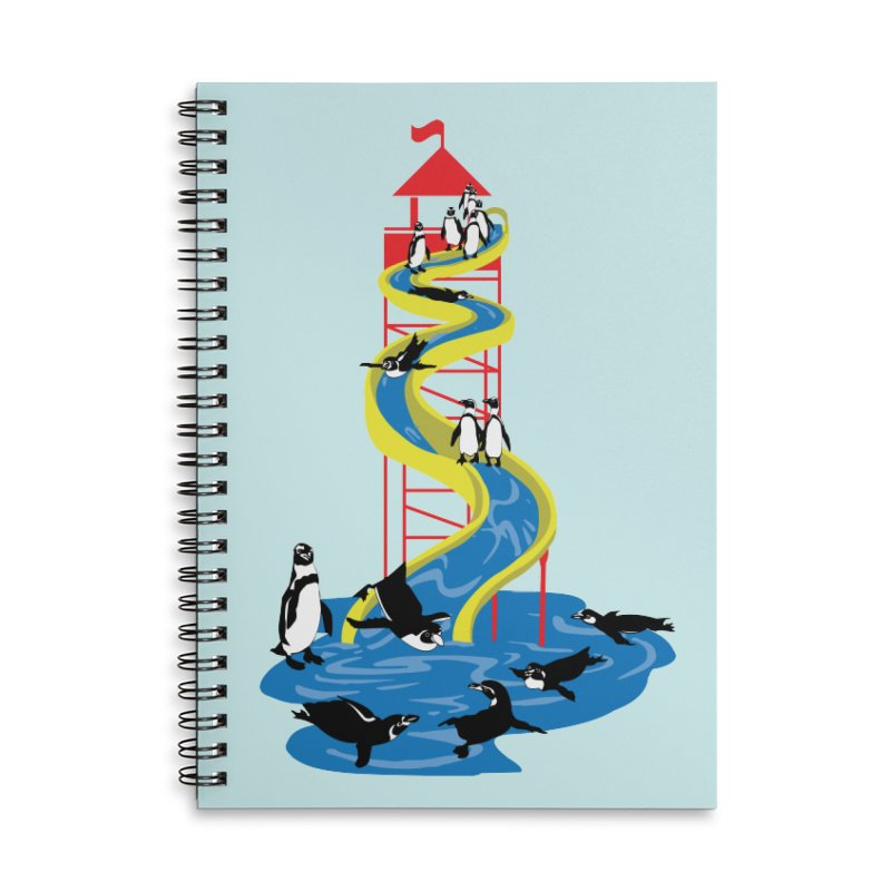 Penguin Waterslide Accessories Lined Spiral Notebook by