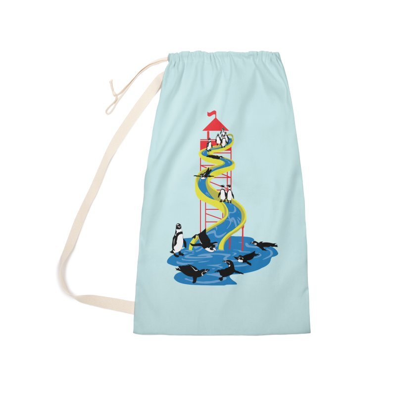 Penguin Waterslide Accessories Laundry Bag Bag by