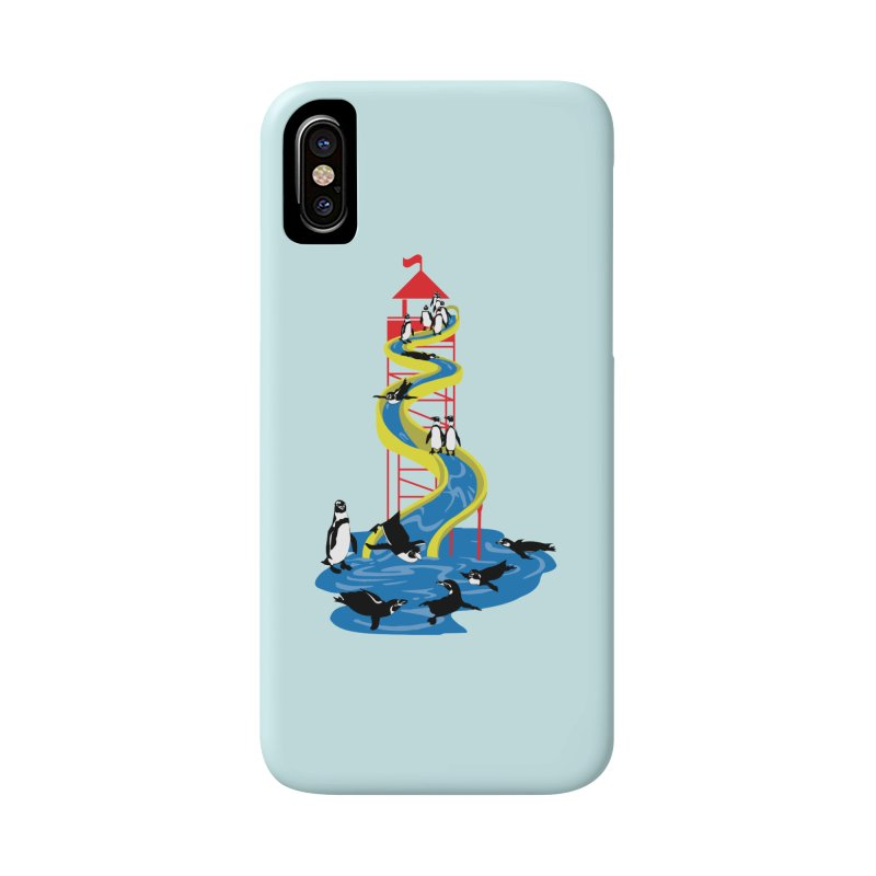 Penguin Waterslide Accessories Phone Case by
