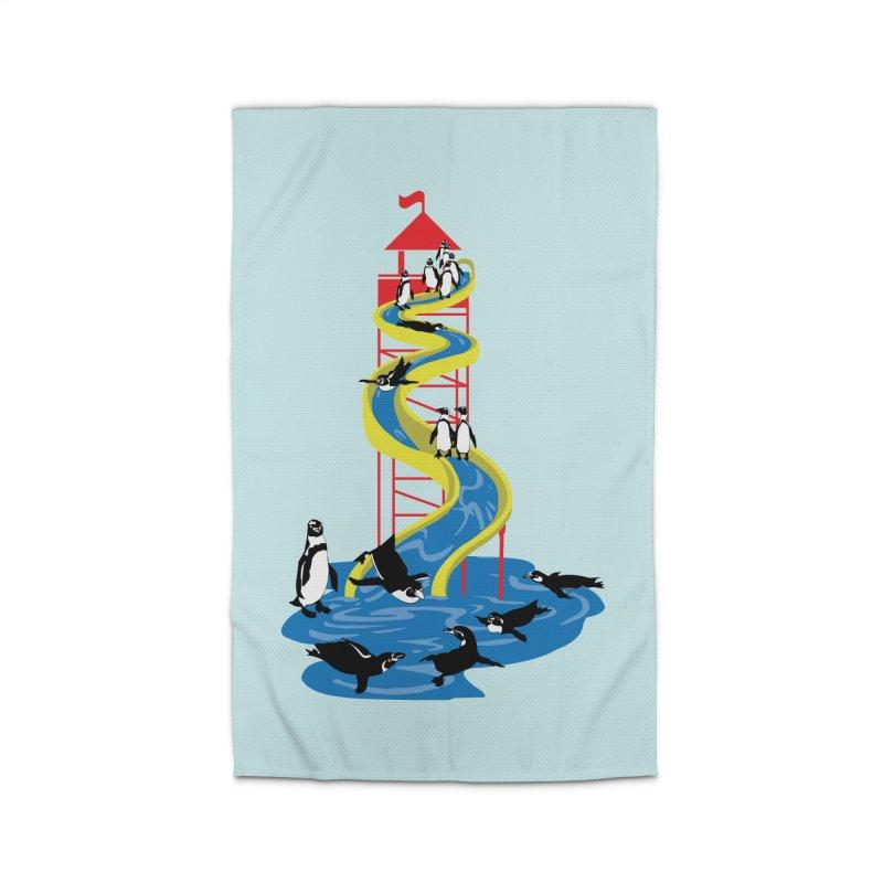Penguin Waterslide Home Rug by