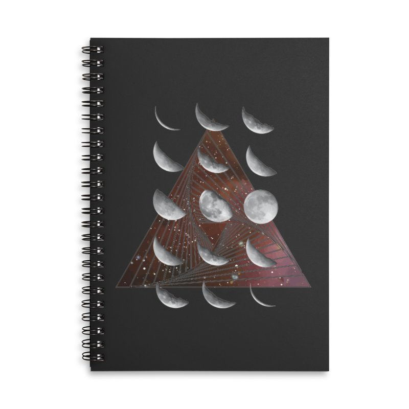 Lunar Vortex Accessories Lined Spiral Notebook by