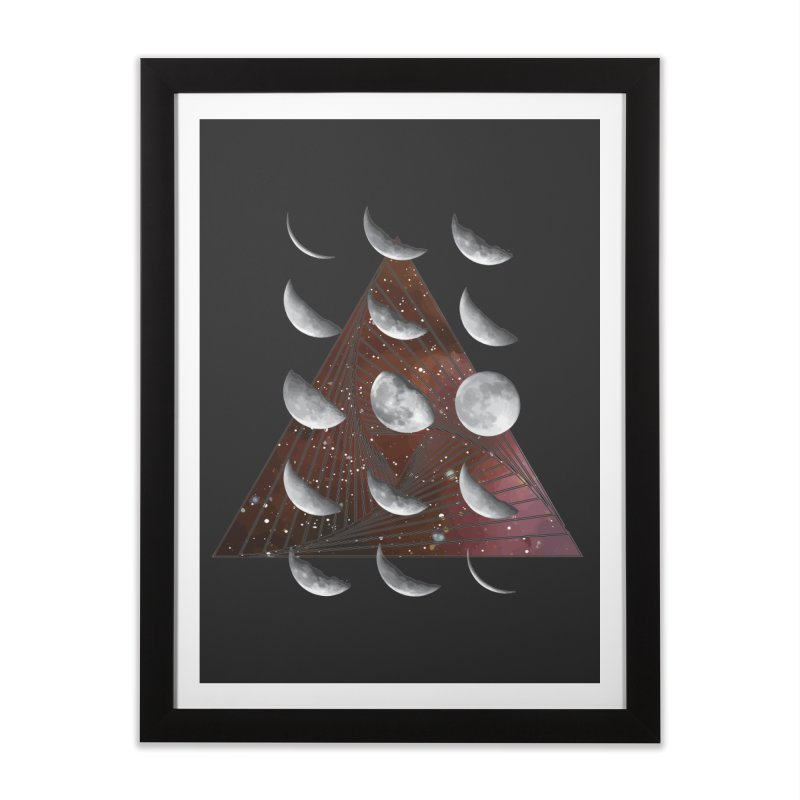 Lunar Vortex Home Framed Fine Art Print by
