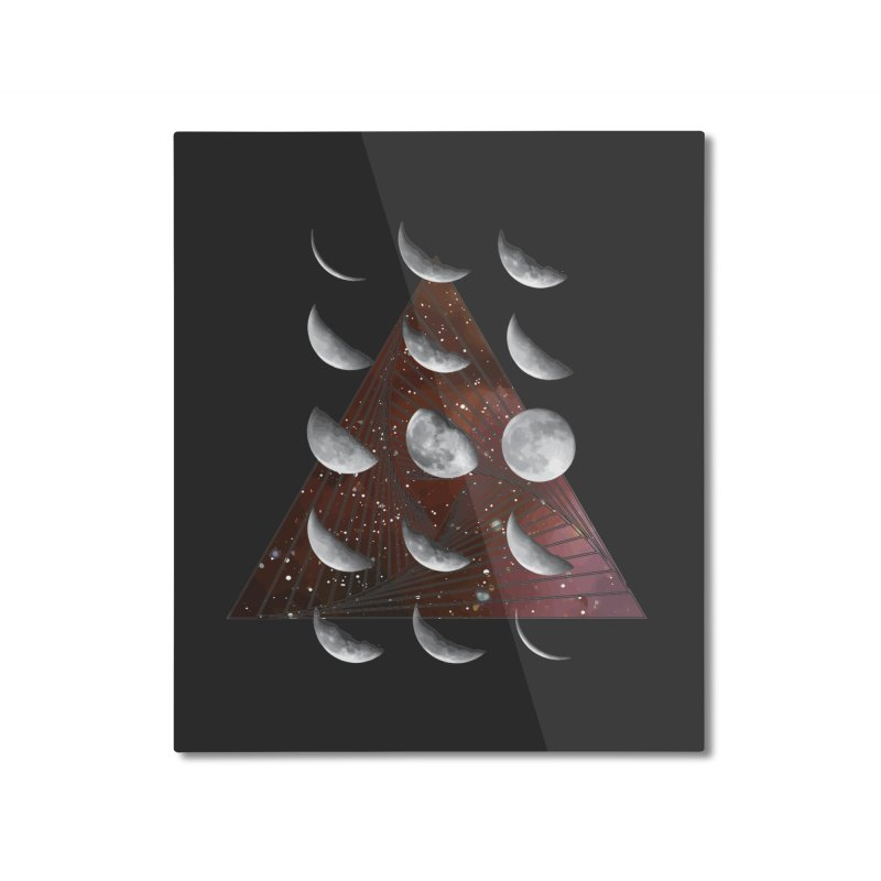 Lunar Vortex Home Mounted Aluminum Print by