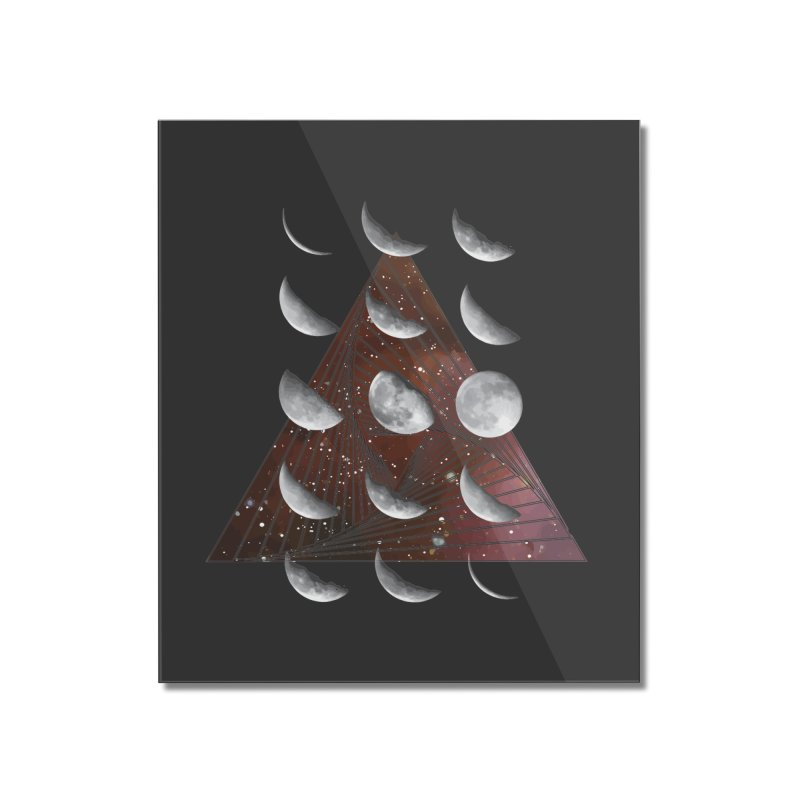 Lunar Vortex Home Mounted Acrylic Print by