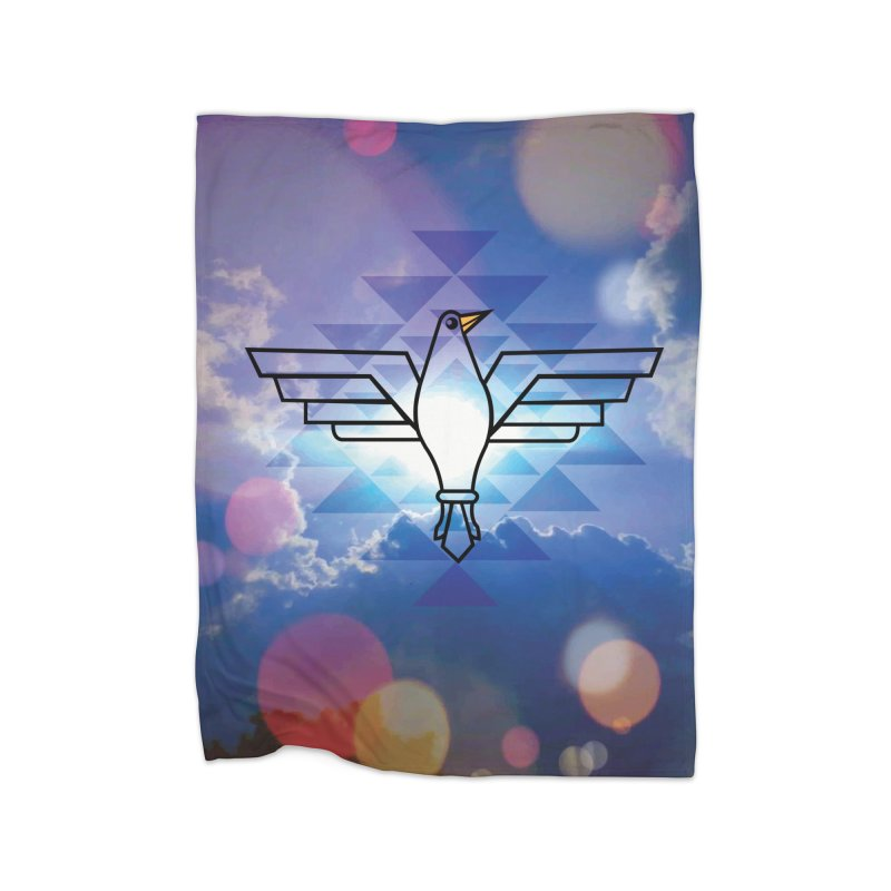 The Warrior Bird Home Fleece Blanket Blanket by