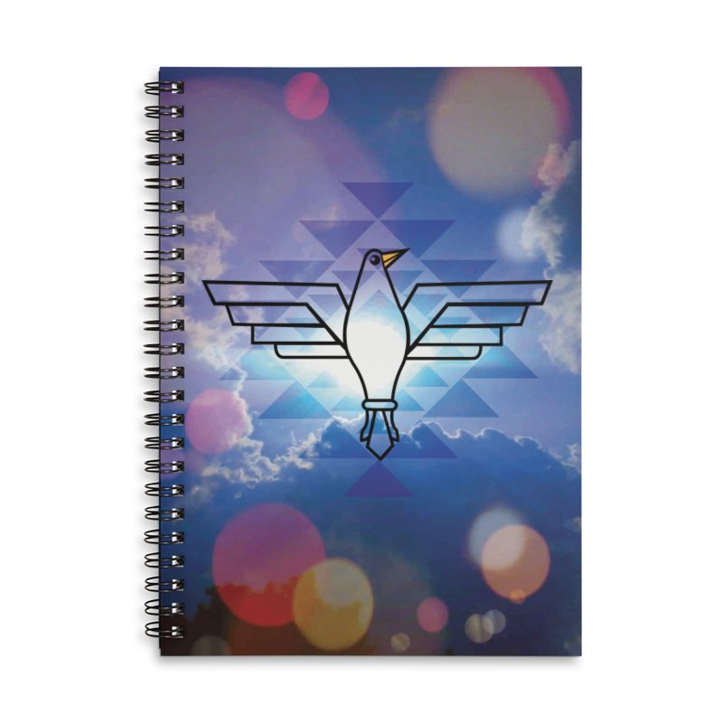 The Warrior Bird Accessories Lined Spiral Notebook by