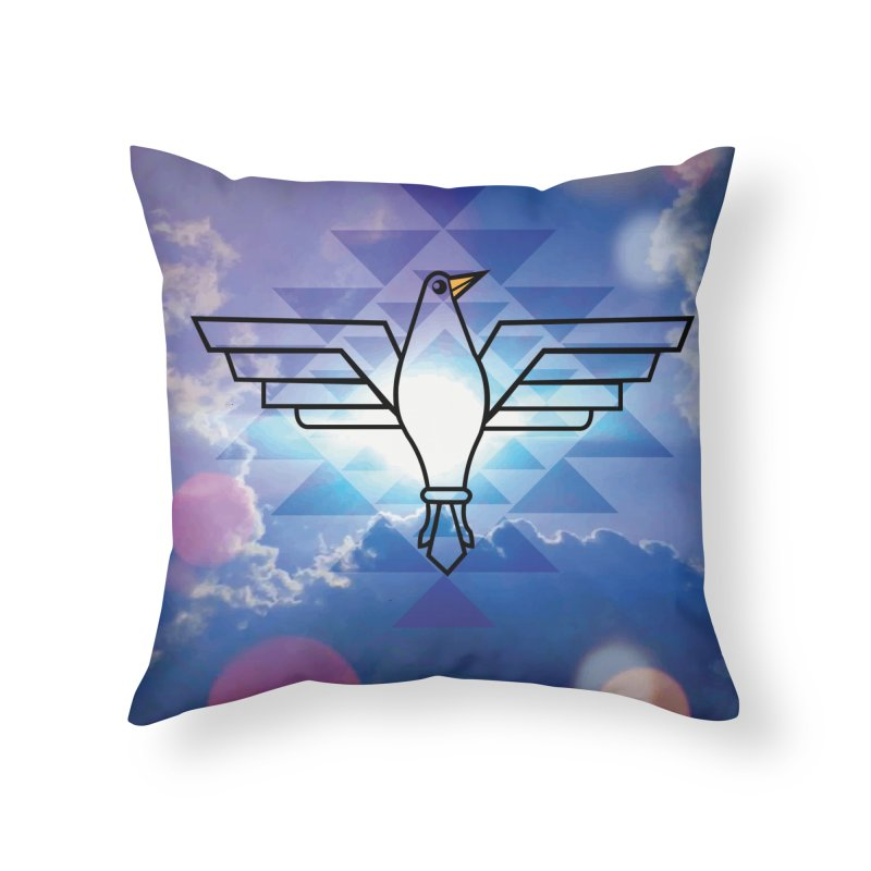 The Warrior Bird Home Throw Pillow by