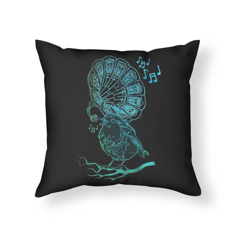 Birdograph Home Throw Pillow by