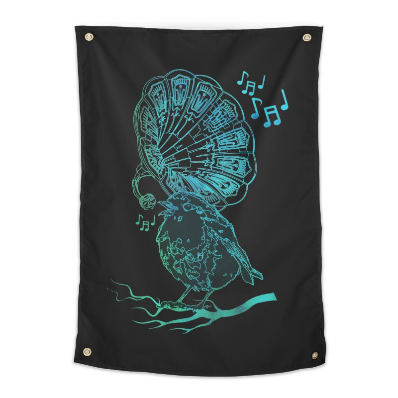Birdograph Home Tapestry by