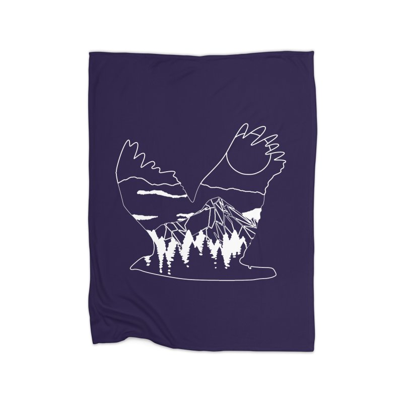 Free Bird Home Fleece Blanket Blanket by