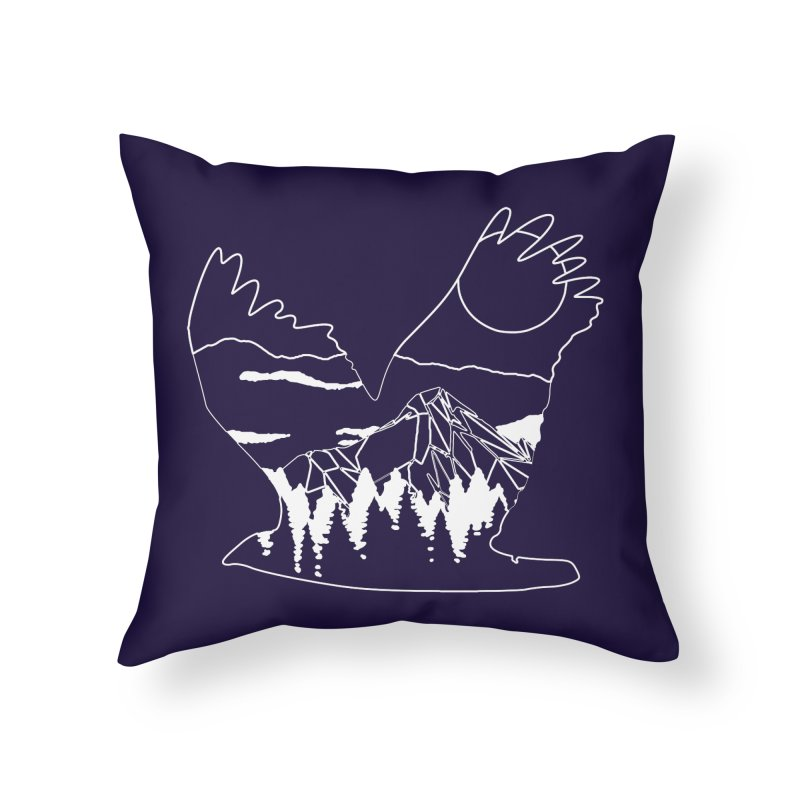 Free Bird Home Throw Pillow by