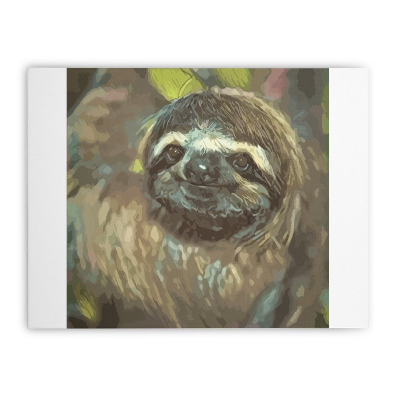 Sloth Home Stretched Canvas by