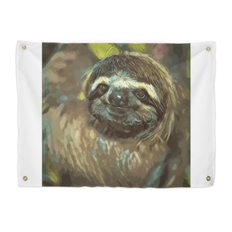 Sloth Home Tapestry by