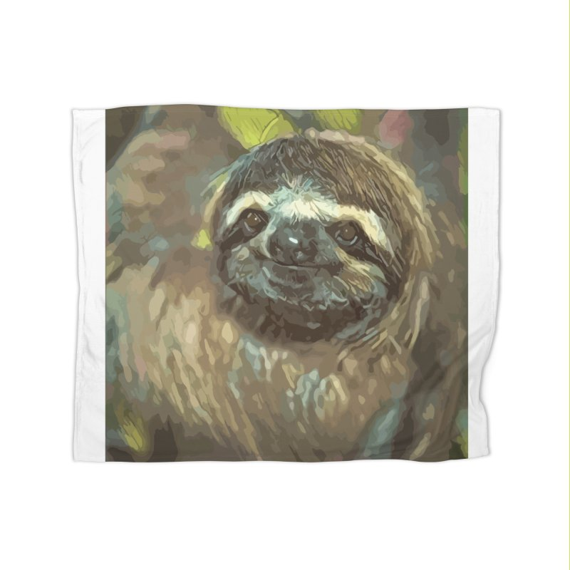 Sloth Home Fleece Blanket Blanket by