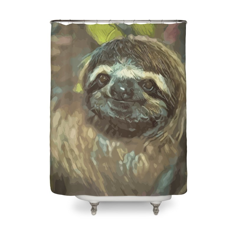 Sloth Home Shower Curtain by