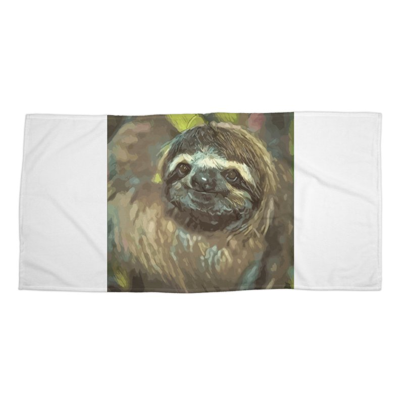 Sloth Accessories Beach Towel by