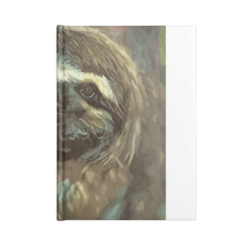 Sloth Accessories Lined Journal Notebook by