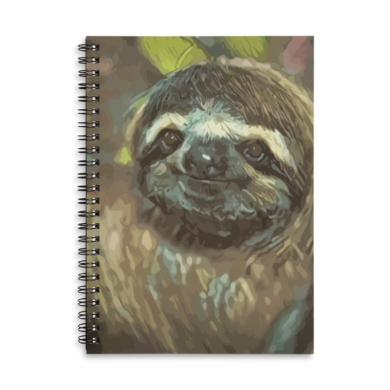 Sloth Accessories Lined Spiral Notebook by